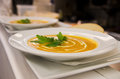 Soup with vegetables and cream Stock Photo