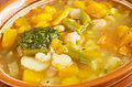 Soupe au pistou rench vegetable soup Royalty Free Stock Photo
