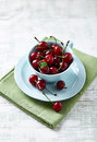 Sour Cherries in a Cup Royalty Free Stock Photo