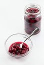 Sour Cherry Compote Stock Photography