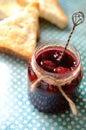 Sour cherry jam Royalty Free Stock Photo