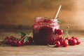 Sour Cherry Jam Royalty Free Stock Photo