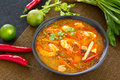 Sour and Spicy soup Prawn [Thai's Tomyum kung ] Royalty Free Stock Images