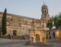 The source of Santa Maria and cathedral of Baeza Royalty Free Stock Photo