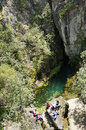 Source su gologone recognized as being a natural monument since is the biggest karst in sardinia it gushes out right at the base Royalty Free Stock Photo