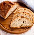 Sourdough bread on kitchen board Stock Images
