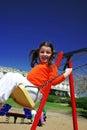 Sourire dans l'oscillation Photographie stock libre de droits