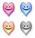 Sourire de coeur Photo libre de droits