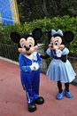 Souris de Mickey et de Minnie en monde de Disney Image stock