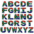 South Africa flag font Royalty Free Stock Photo