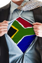 South Africa flag on shirt Royalty Free Stock Photography