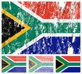South Africa grunge flag set Royalty Free Stock Image