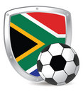South Africa Shield Scoccer Stock Photos