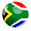 South africa soccer ball Stock Photography