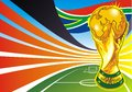 South africa soccer theme as a colorful background Royalty Free Stock Photography