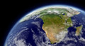 South africa viewed from space with atmosphere and clouds elements of this image furnished by nasa Stock Image