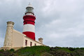South Africa, Western Cape, Cape Agulhas, lighthouse, stormy weather Royalty Free Stock Photo