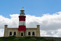 South Africa, Western Cape, Cape Agulhas, lighthouse, nature reserve, landscape Royalty Free Stock Photo