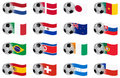 South africa worth cup  vector flags group E to H Stock Image