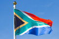 South African flag Royalty Free Stock Photo