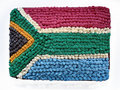 South African flag cake Royalty Free Stock Photo