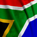 South African Flag Closeup Royalty Free Stock Photo