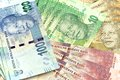 South african new bank notes nelson mandela Royalty Free Stock Photography