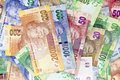South African, New Bank Notes Royalty Free Stock Photo