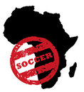 South African Soccer stamp Royalty Free Stock Image