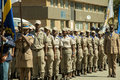 South African Traffic Police lined up on Parade