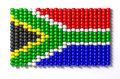 South African Zulu Bead Flag Royalty Free Stock Photo