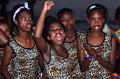 South African Zulu dancers Royalty Free Stock Photo