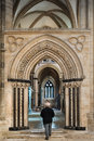 South aisle entering the area around the chancel of lincoln cathedral via the walkway along the Royalty Free Stock Photography
