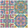 South american art pattern modern design with ancient motifs with three dimensional effects in vector on white background for Royalty Free Stock Photos