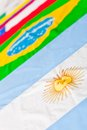South American flags Stock Photo