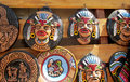 South American indians souvenir totem idol faces Royalty Free Stock Photo