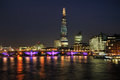 The South Bank London UK at night Stock Photography