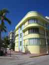 South Beach Art Deco Building Stock Photography