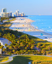 South beach miami florida aerial vista of Stock Image