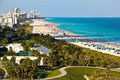 South beach miami florida panoramic view of soth Royalty Free Stock Photo