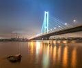 South bridge in Kiev. Royalty Free Stock Photo