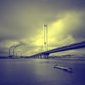 South bridge. Ukraine. Kiev. Royalty Free Stock Photo