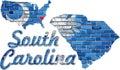 South Carolina on a brick wall