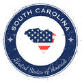 South Carolina circular patriotic badge.