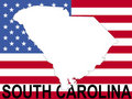 South Carolina on flag Royalty Free Stock Photo