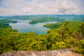 South carolina lake jocassee gorges upstate mountain aerial views over mountains Royalty Free Stock Images