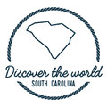 South Carolina Map Outline. Vintage Discover the.
