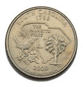South Carolina quarter dollar Stock Photos