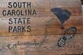 South Carolina State Parks wooden sign Royalty Free Stock Photo