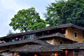 South of china traditional residence featured roof and eave in country fujian shown as architecture detail Royalty Free Stock Photo